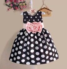 ホット販売クリスマススーパーのドレスパーティーや結婚式ドットプリント王女の子供ドレスのファッション子供服