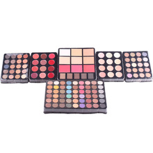 MISS ROSE Professional Makeup Set Aluminum Box Three Layers With Flash Eyeshadow Lip Gloss Blush Powder Case Art