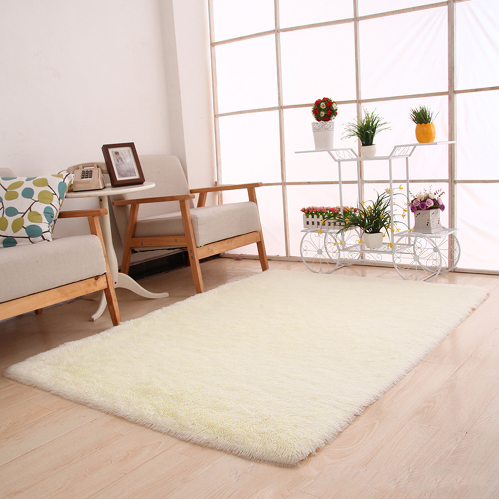 Plush Shaggy Soft Carpet Area Rugs Slip Resistant Floor Mats For Parlor Living Room Bedroom Home Supplies 40*60*3cm