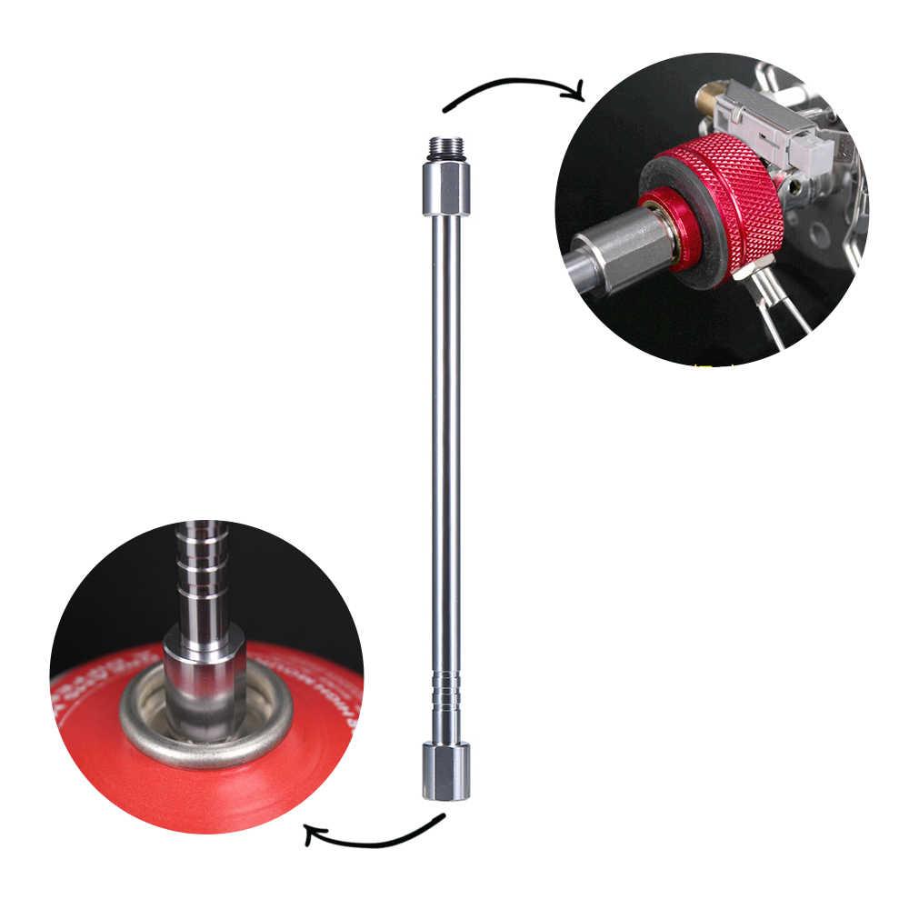 Fornuis Gas Tank Converter Uitbreiding Staaf Camping Lamp Verlengstuk Gas Lantaarn Extension Tube Blow Torch Extender Pole