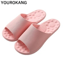 Summer Women Home Slippers Indoor Message Couple Shoes Non-slip Bathroom Slipper Concise Lovers Flip Flops Plastic Ladie Sandals цена 2017