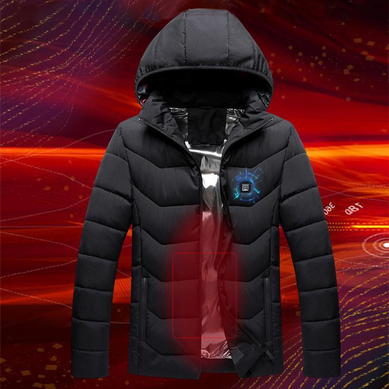 New Winter Warm Heating Jackets Men Women Smart Thermostat P…