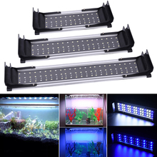 Finsh tank cover light Fish Tank Light LED Extendable White+Blue Aquarium D20