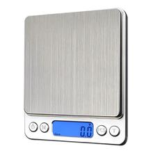1000g x 0.1g Mini Electronic Digital Scales Metal Kitchen Scales Pocket Case Household Bake Balance Weight Scale Libra