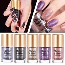 BeautyBigBang 5 Bottles Nail Polish Set Crystal Pearl Diamonds Glitter Nail Lacquer Varnish Polish Manicure Glitter Nail Polish недорого