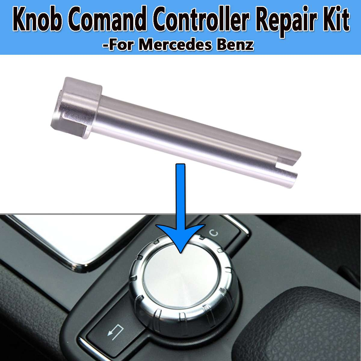 New Radio Command Console Controller Rotary Switch Button Scroll Knob Shaft Repair Fix For Mercedes For Benz W204 X204 W212 W218(China)
