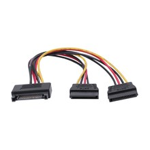 Sata Hard Drive Power Cord 15Pin One Minute Two Turn Wiring Male To Female 1 Minute 2 Optical Drive Power Cord(China)