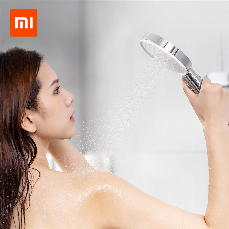 Xiaomi Mijia Diiib 3 Modes Handheld Shower Head Set 360 Degree 120mm 53 Water Hole with PVC Matel Powerful Massage ShowerXiaomi Mijia Diiib 3 Modes Handheld Shower Head Set 360 Degree 120mm 53 Water Hole with PVC Matel Powerful Massage Shower