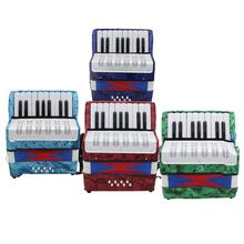 17 Key 8 Bass Accordion Instrument Small Accordion Educational Musical Instruments for Children Navy Blue/Green/Red/Sky Blue цена