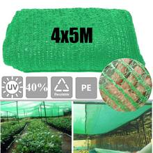 40% Sunblock Shade Cloth for Plant Cover Greenhouse Barn Sunshade Cover Garden Patio Orchard Accessories Green 13x 16.4Ft 4x5m(China)