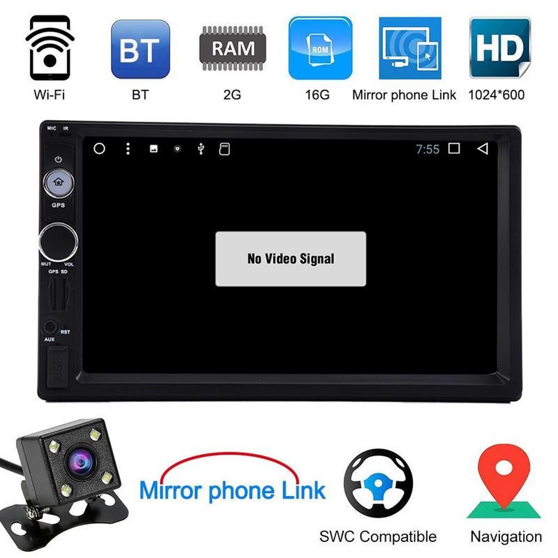 Android 7.1 écran tactile 1080 P 7 pouces HD lecteur de voiture intelligente MP5 pour la Navigation GPS automatique Bluetooth WiFi véhicule MP5 lecteur vidéo