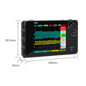 Image 5 - DS212 osd przenośny 2 kanałowy oscyloskop cyfrowy kieszonkowy rozmiar interfejs USB w pełnym kolorze wyświetlacz TFT 8MB pamięć szerokość pasma