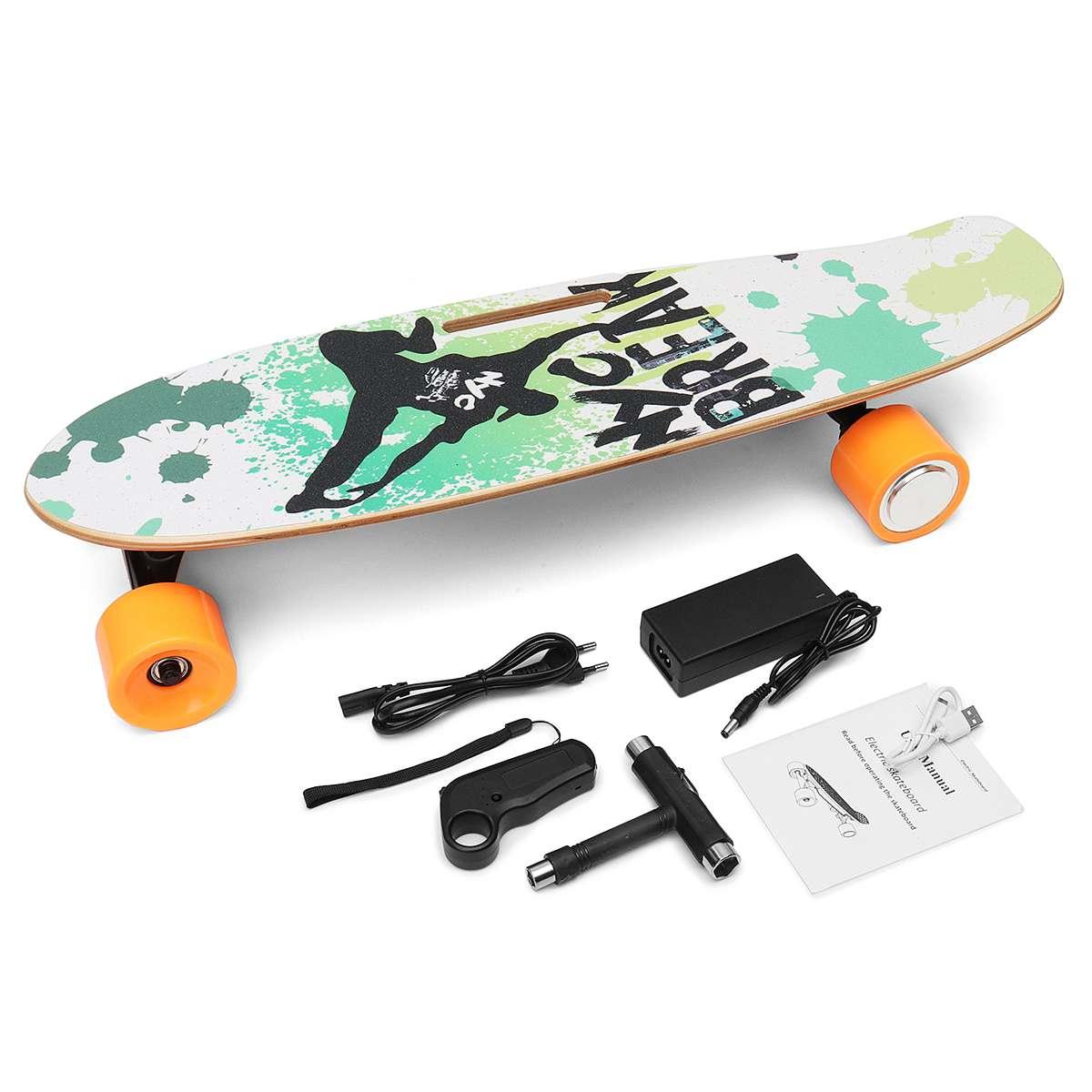 250 W 15 km/h skateboard électrique avec télécommande scooter adulte Kit Motorisé Hub Petit éclisse planche de skate Quatre Roues