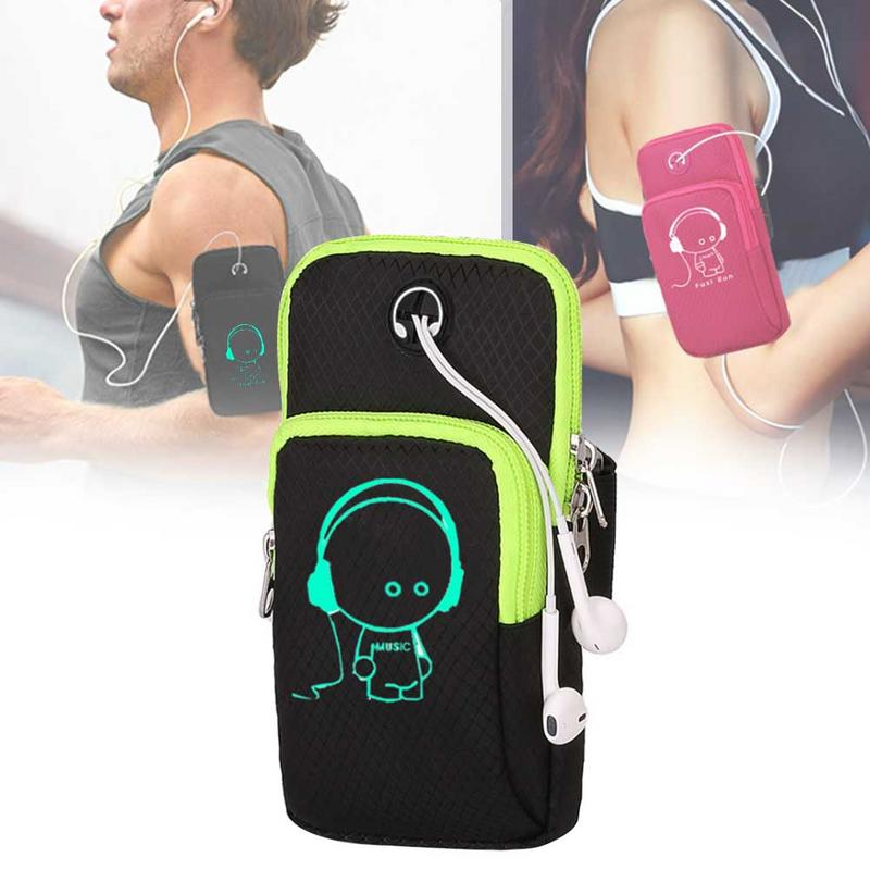 Sports Running Mobile Phone Bag Outdoor Sports Armband Sweatproof Arm Package Bag Gym Fitness Cell Phone Bag Key Holder