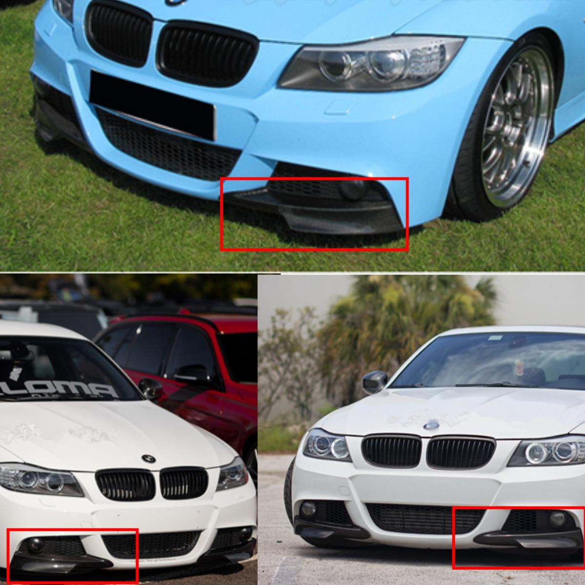 Véritable Fiber de carbone/résine universel pare-chocs avant de voiture protecteur de lèvre Spoile séparateur latéral pour BMW E90 335i LCI m-tech - 2