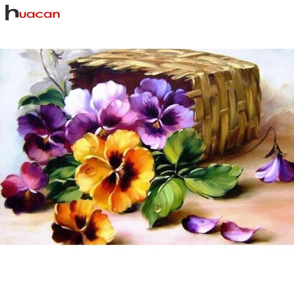 HUACAN 5D DIY Diamond Painting Cross Stitch Flowers Full Square New Arrival Mosaic Diamond Embroidery Decoration HomeHUACAN 5D DIY Diamond Painting Cross Stitch Flowers Full Square New Arrival Mosaic Diamond Embroidery Decoration Home