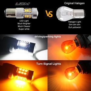 Image 5 - IJDM interrupteur de commutation double couleur, haute puissance 28 SMD 1157, ampoule LED pour clignotant avant (7 blanc et 21 ambre)
