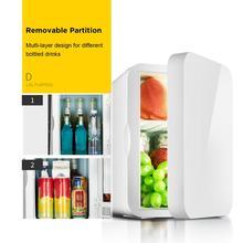 Мини-холодильник маленький 12 в автомобильный холодильник 220 В одинарная дверь автомобиля дома двойного назначения термоэлектрический мини-холодильник теплее