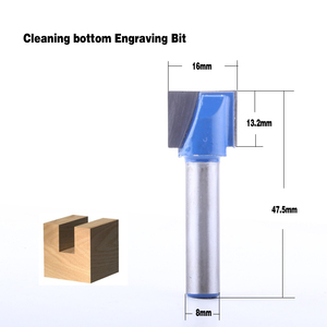 Image 3 - 10 ピース 8 ミリメートルクリーニングボトムビット彫刻ビット超硬 10,12 、 14,16 、 18,20 、 22,25 、 28,30 ミリメートル径の Cnc フライスカッター