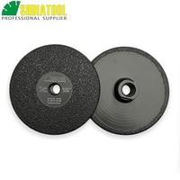 SHDIATOOL 2pcs 125MM/5inch Vacuum Brazed Diamond Grinding Shaping wheel 5/8 11 Flat Shaping Disc for Granite Marble Concrete