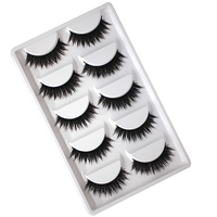 5 Pairs Soft Charming Women Ladies Natural Eye Lashes Handmade Thick Long Fake False Eyelashes Beauty Makeup Tools False Eyelashes