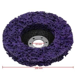 Image 5 - חדש 5Pcs סגול עמיד פולי רצועת דיסק גלגל 100x16Mm עץ מתכת צבע הסרת החלודה נקי שוחק כלים עבור זווית מטחנות