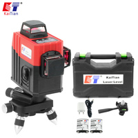 KaiTian 3D Laser Level 12 Line 3D5 Battery with Outdoor 360 Horizonta Self Leveling Vertical 650nm Livella Laser Beam Line Tools