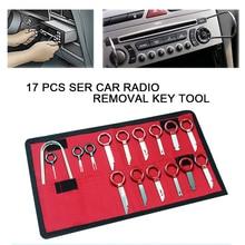 17Pcs set Professional Car Van Radio Audio Stereo Player Removal Key Tool Kit