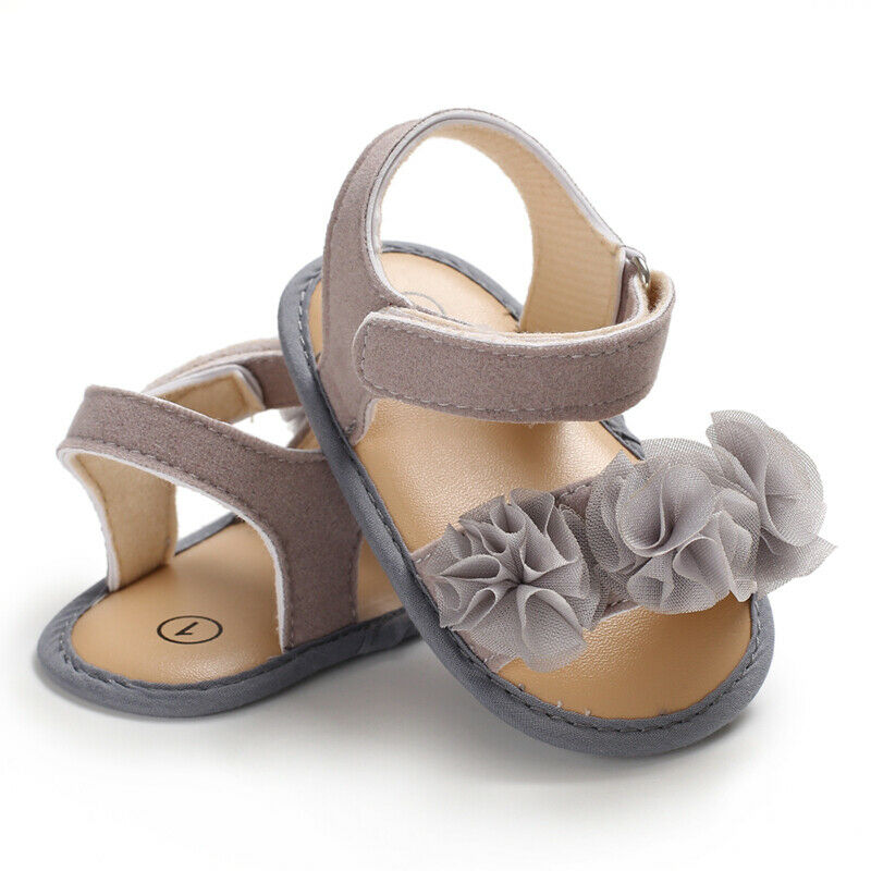 2019 New Toddler Newborn Infant Baby Girls Shoes Lace Flower  Sandals Summer Beach Shoes