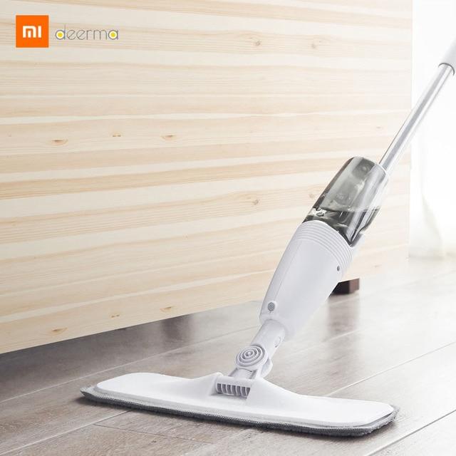 Xiaomi Mijia Ecological Chain Deerma Water Spraying Sweeper Mop 0.7kg Carbon Fiber Cloth 360 Rotation 350ml Tank Floor Cleaner