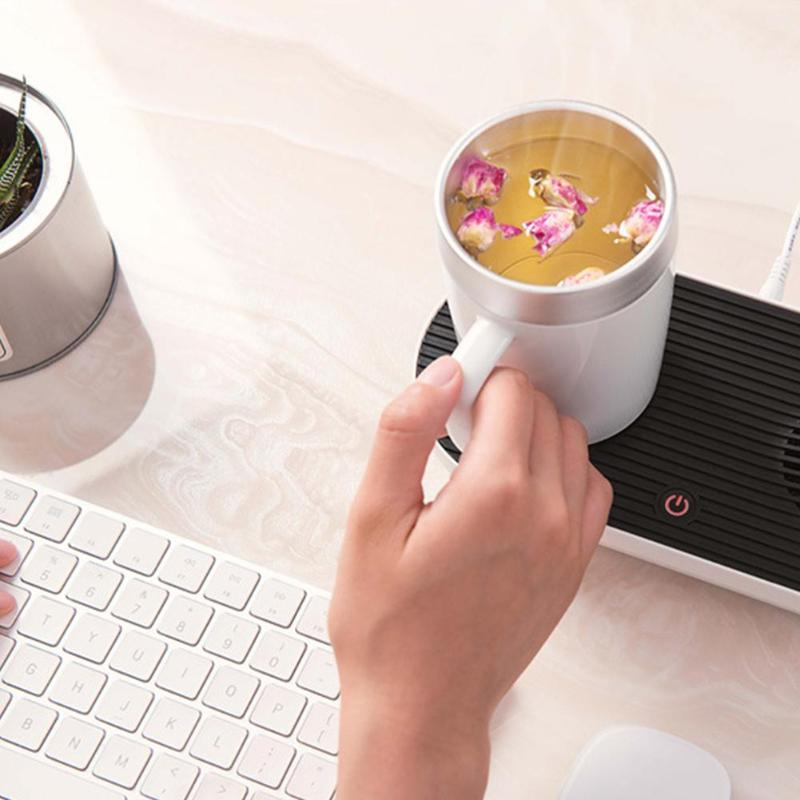 Refroidissement rapide Intelligent chauffage tasse tapis conservation de la chaleur coussin de chauffage Base bureau cadeau thé tasse à café chauffe-plat
