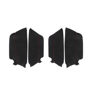Image 2 - For Toyota Prado 2010 2011 2012 2013 2014 2015 2016 2017 2018 4pcs Microfiber Leather Interior Door Panel Cover Protection Trim