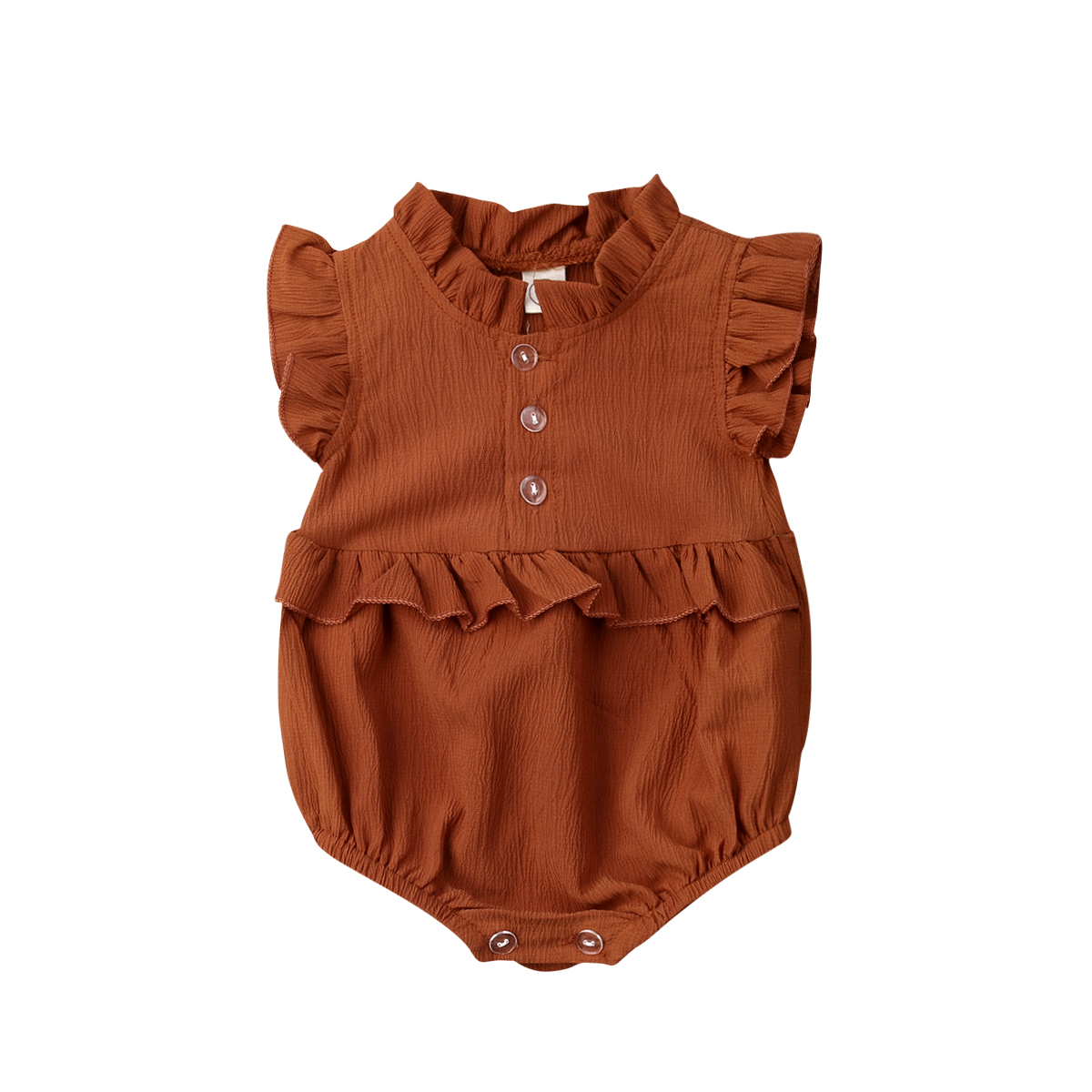 0-24 Months Cute Baby Clothes Yellow Sleeveless Chiffon Baby Bodysuits Summer Button Baby Girls Clothes Newborn Set Jumpsuits