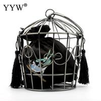 2019 New Personality Hollow Bird Cage Women Handbag Tote Metal Cage Girls Top Handle Bags Coin Purse Fashion Party Pouch Clutch
