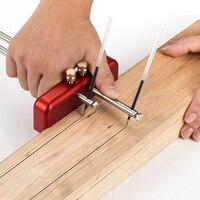 Handheld Portable Aluminum Alloy Marking Gauge Woodworking Decoration Scriber DIY Hand Scribing Tool with 2pcs Marking Rod