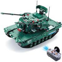 RCtown военной серии Большой танки на радиоуправлении Ассамблеи Building Block Игрушка с Поворот башни запуск ракеты радиоуправляемая модель танка