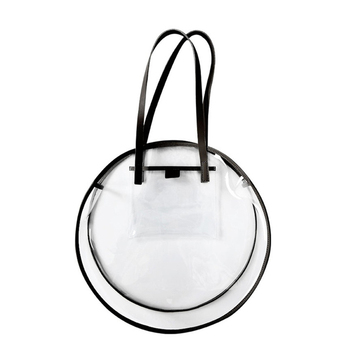 f95dead4fc18 Прозрачные пластиковые сумки для девочек летние пляжные Круглый прозрачный  пакет большой Для женщин сумка Водонепроницаемый сумки