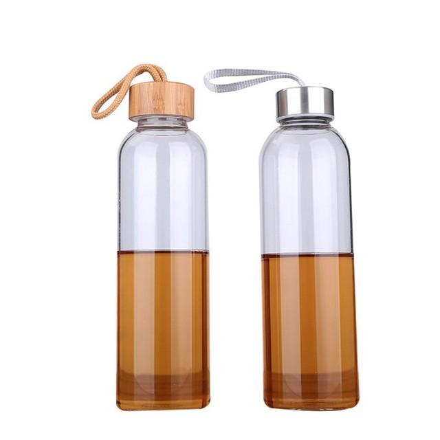 550 ml Portable Glass Water Bottle