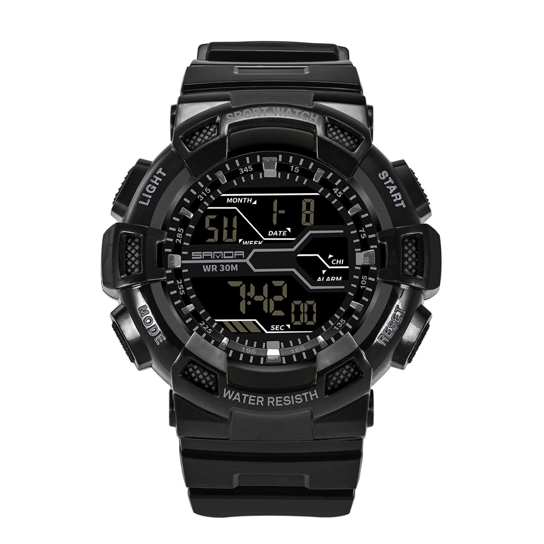 SANDA New Mens Watch Sports Digital Watch LED Display Waterproof WatchSANDA New Mens Watch Sports Digital Watch LED Display Waterproof Watch
