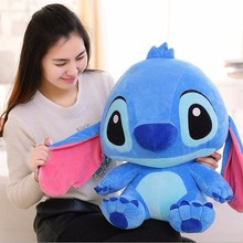 Kawaii 35/45cm Big Stitch Lilo Plush Toys Doll Stich Lilo Anime Soft Animals Stuffed Toys For Baby Kids Birthday Christmas Gifts stitch bouquet plush stuffed carton animals toys artificial kawaii cartoon fake flowers best birthday christmas day gifts