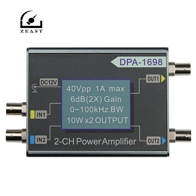 DPA 1698 High Power 0 100 KHZ Dual Channel 10W X2 DDS Function Signal Generator Power