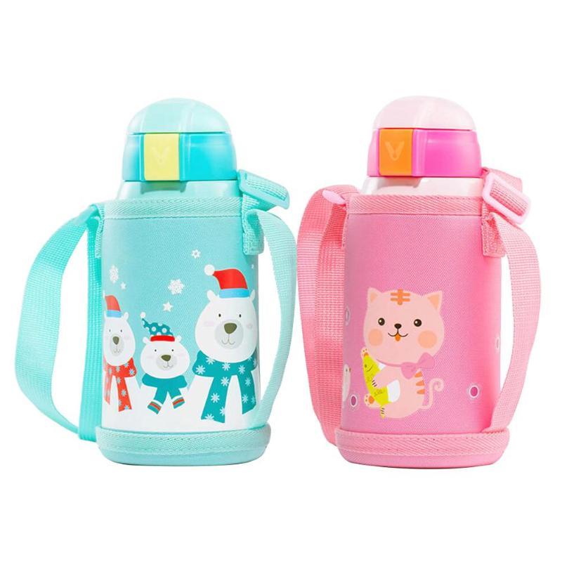 Enfants boire tasse 316 vide en acier inoxydable isolation sous vide 590 ml bouteille de sécurité bouteille pour enfants Thermoses sous vide