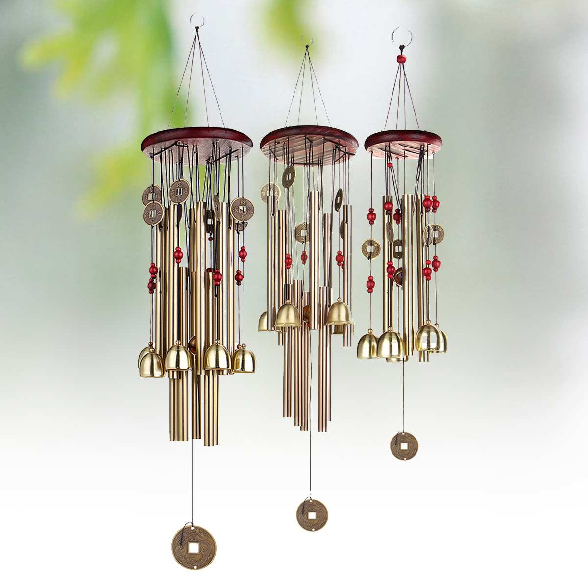 Wind Chime Bell Blessing Feng Shui Wind Chime for Good Luck Fortune Home Decor Garden Miniature Hanging Decoration Accessories| | - AliExpress