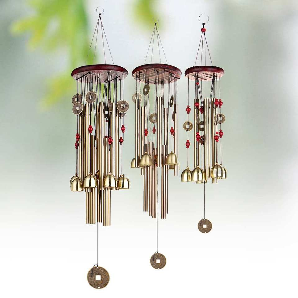 Wind Chime Bell Blessing Feng Shui Wind Chime For Good Luck Fortune Home Decor Garden Miniature Hanging Decoration Accessories Figurines Miniatures Aliexpress