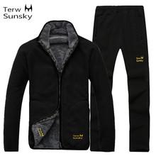 043c234e175 Hot Winter Men s Thickness Coat Pants Sets Large Size Warm Fleece Liner  Clothing Outdoor Camping Climbing