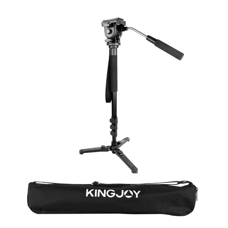 Image 2 - Kingjoy Mp1008F Set Professional Monopod Set Dslr For All Models Camera Tripod Stand Para Movil Flexible Tripe Stativ Slr Dslr-in Live Tripods from Consumer Electronics