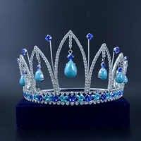 Moda Corona di Strass Tiara Nuziale Della Principessa di Miss Beauty Pageant queen corona Accessori Per Capelli Da Sposa Per Il Partito di Promenade Mo009