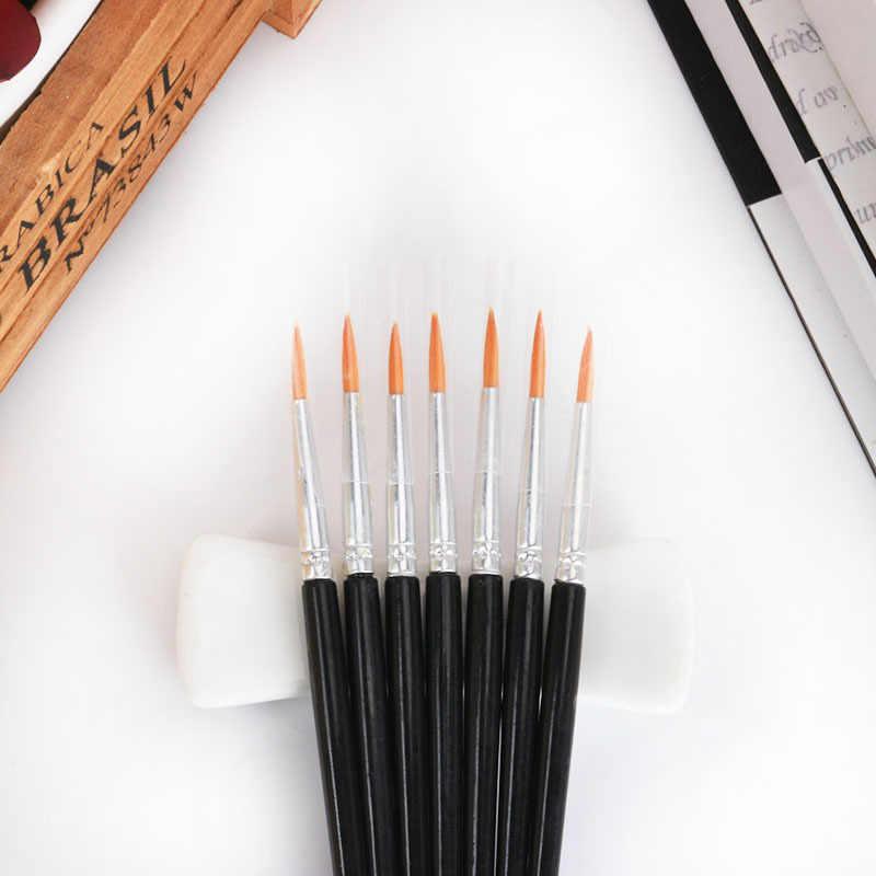 5 pz/set di Alta Qualità A Lungo di Coda Crine Acquerello Gancio Linea della Pittura A Olio Vernice di Arte del Pennello di Cancelleria
