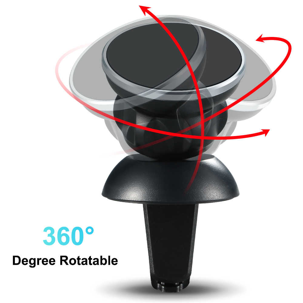 Universal Magnetic Telepon Mobil Pemegang untuk iPhone X XS XR Udara Vent Gunung Magnet Pemegang Mobil untuk Ponsel 360 rotasi