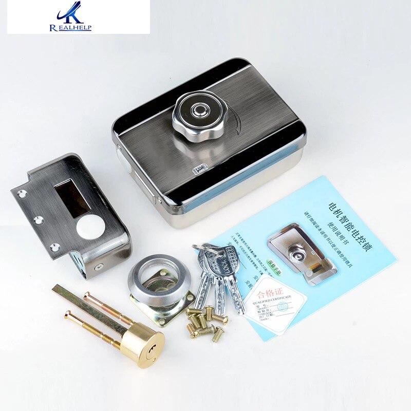 Venda quente do agregado familiar auto-travamento porta guarda bloqueio elétrico do motor de bloqueio de aço inoxidável inteligente de baixo nível de ruído bloqueio prático